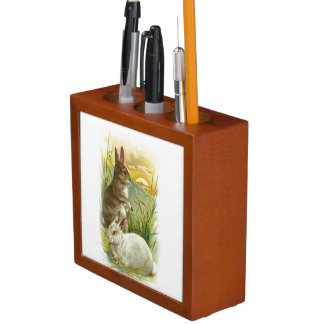 Easter Bunnies at Sunrise Desk Organiser