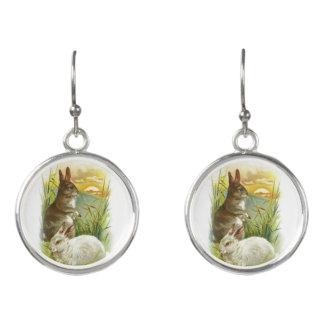 Easter Bunnies at Sunrise Earrings