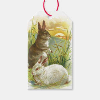 Easter Bunnies at Sunrise Gift Tags