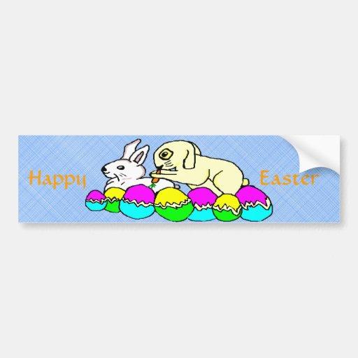 Easter Bunnies Bumper Sticker