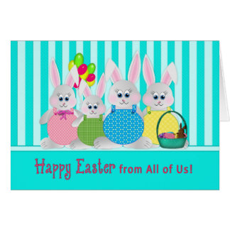 Easter Bunnies - From All of Us - Fun Card