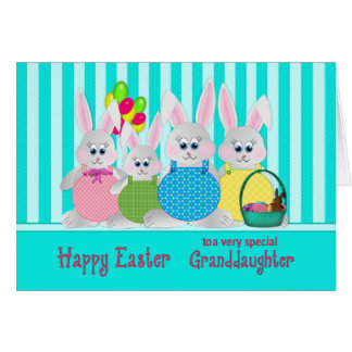 Easter Bunnies - Granddaughter - Fun Card