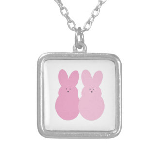 Easter Bunnies Personalized Necklace