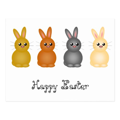 Easter Bunnies Post Cards