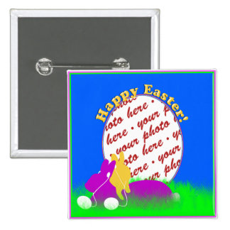 Easter Bunnies With Ear Buds Photo Frame Pins