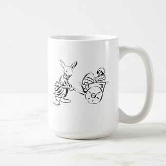 Easter Bunny and Baby Chick Coffee Mugs