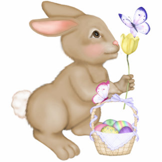 Easter Bunny and Basket Photo Sculptures