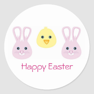Easter Bunny and Chic, Happy Easter Stickers
