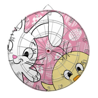 Easter bunny and chick dart boards