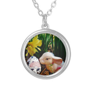 Easter Bunny and cow egg Jewelry