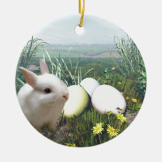 Easter Bunny and Easter Eggs Ornament