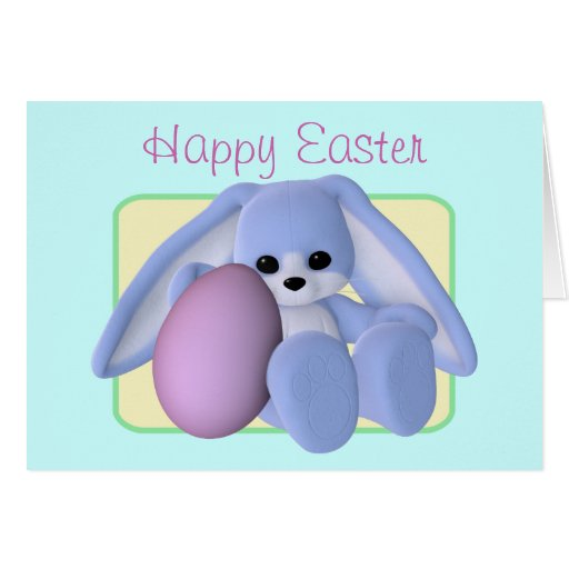 Easter Bunny And Egg Card