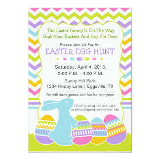 Easter Bunny and Egg Hunt Invitation