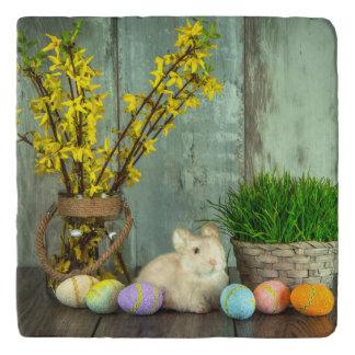 Easter Bunny and Egg Scene Trivet