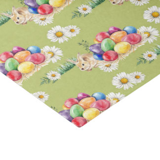 Easter bunny and eggs party pattern tissue tissue paper