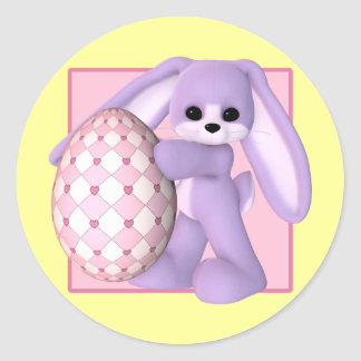 Easter Bunny and Giant Egg Stickers