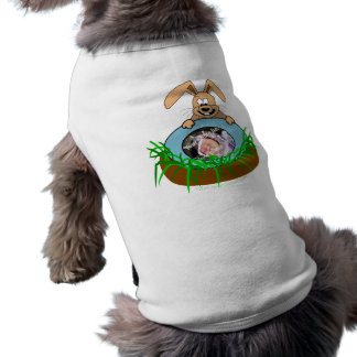 Easter Bunny Baby Announcement Photo Template Sleeveless Dog Shirt