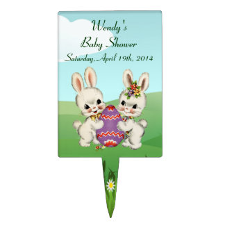 Easter Bunny Baby Shower Cake Toppers