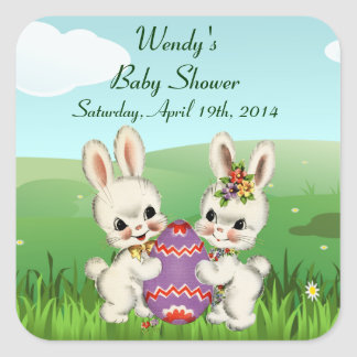 Easter Bunny Baby Shower Favor Stickers