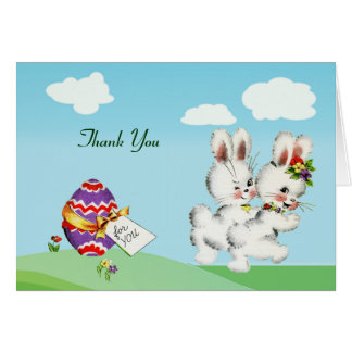 Easter Bunny Baby Shower Thank You Notes Card
