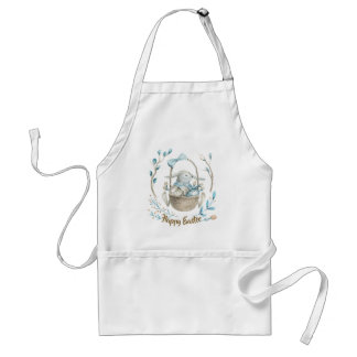 Easter Bunny Backer-Happy Easter Modern Typography Standard Apron