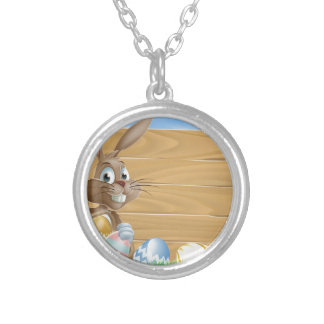Easter bunny background sign pendant