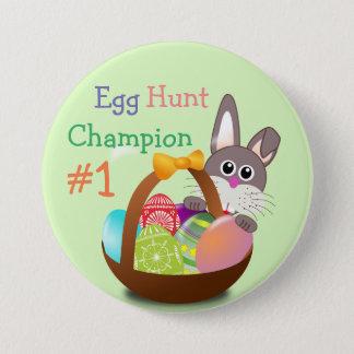 Easter Bunny Basket Egg Hunt Champion #1 Button