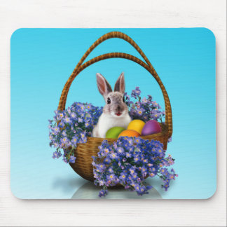 Easter Bunny Basket Mouse Pad