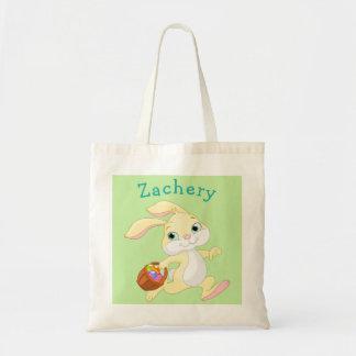 Easter Bunny Basket Name Egg Hunt Bag Boy Girl