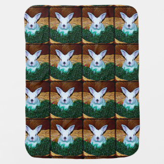 Easter Bunny Basket Receiving Blankets