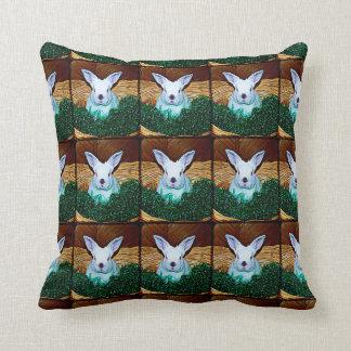 Easter Bunny Basket Throw Cushion