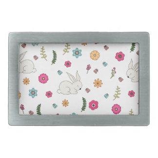 Easter bunny belt buckle