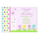 Easter Bunny  Birthday Party Invitations 13cm X 18cm Invitation Card