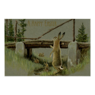 Easter Bunny Bridge Forest Print
