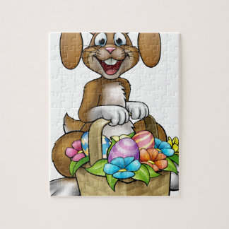 Easter Bunny Cartoon Character Jigsaw Puzzle
