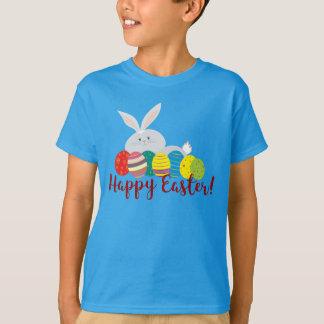 Easter Bunny Cartoon Cute Eggs Colorful Ornate T-Shirt