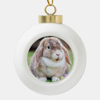Easter Bunny Ceramic Ball Decoration
