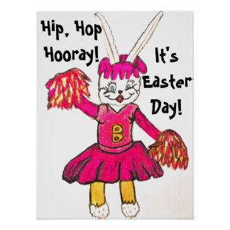 EASTER BUNNY CHEERS poster