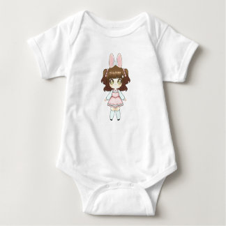 Easter Bunny Chibi Girl Baby Bodysuit