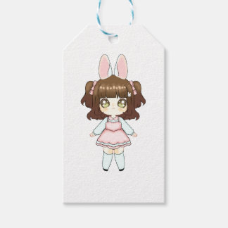 Easter Bunny Chibi Girl Gift Tags