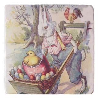 Easter Bunny Chick Colored Egg Trivets