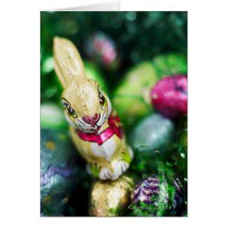 Easter bunny chocolate card