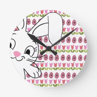 Easter bunny clock