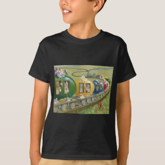 Easter Bunny Colored Egg Cage Train T-Shirt