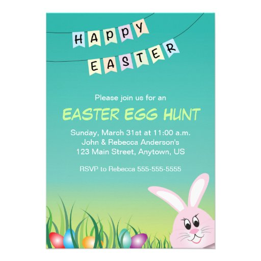 Easter Bunny & Colored Eggs, Easter Egg Hunt Announcements