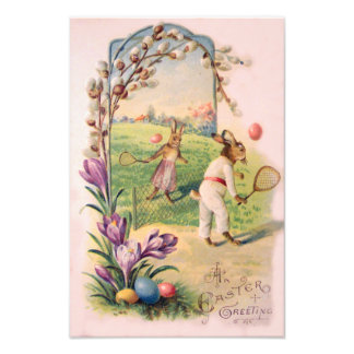 Easter Bunny Colored Painted Egg Tennis Photo Print