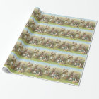Easter Bunny Coloured Painted Egg Field Wrapping Paper