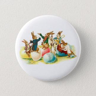 Easter Bunny Concert Vintage 6 Cm Round Badge