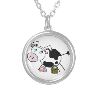 Easter Bunny Cow Personalized Necklace