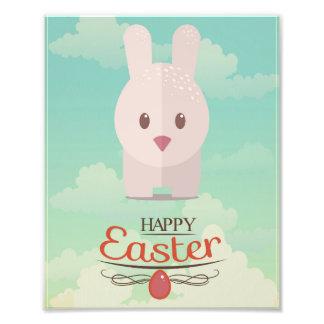 Easter Bunny Cute Animal Nursery Art Illustration Photo Art